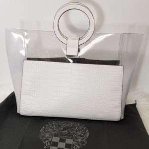 Vince Camuto Bag NWT Clear & White Tote
